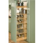 cool adorable fantastic nice wonderful pull out pantry with green earthtone accent design with wooden levels concept