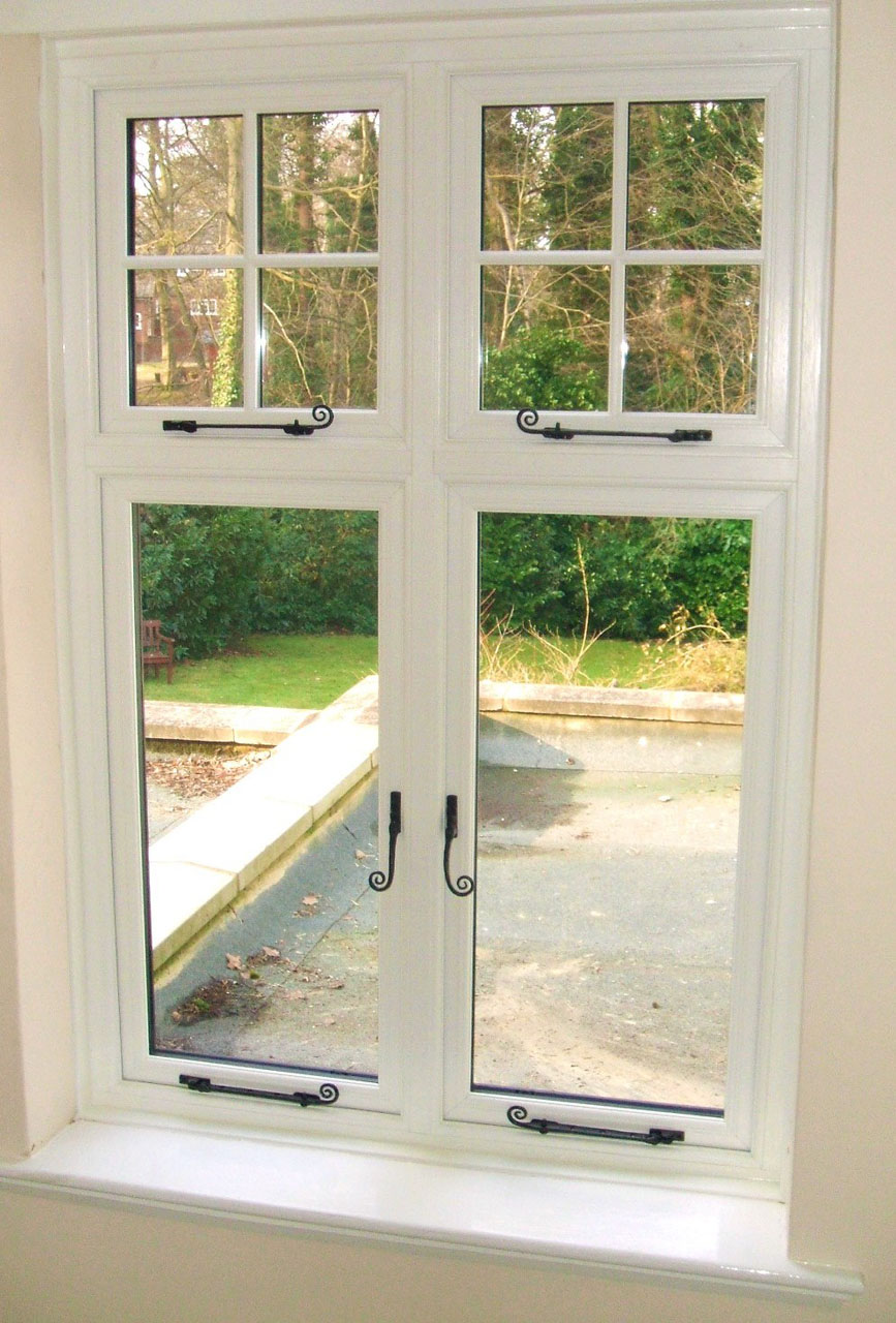 Fantastic and elegant design of cottage style window for Double glazed window glass