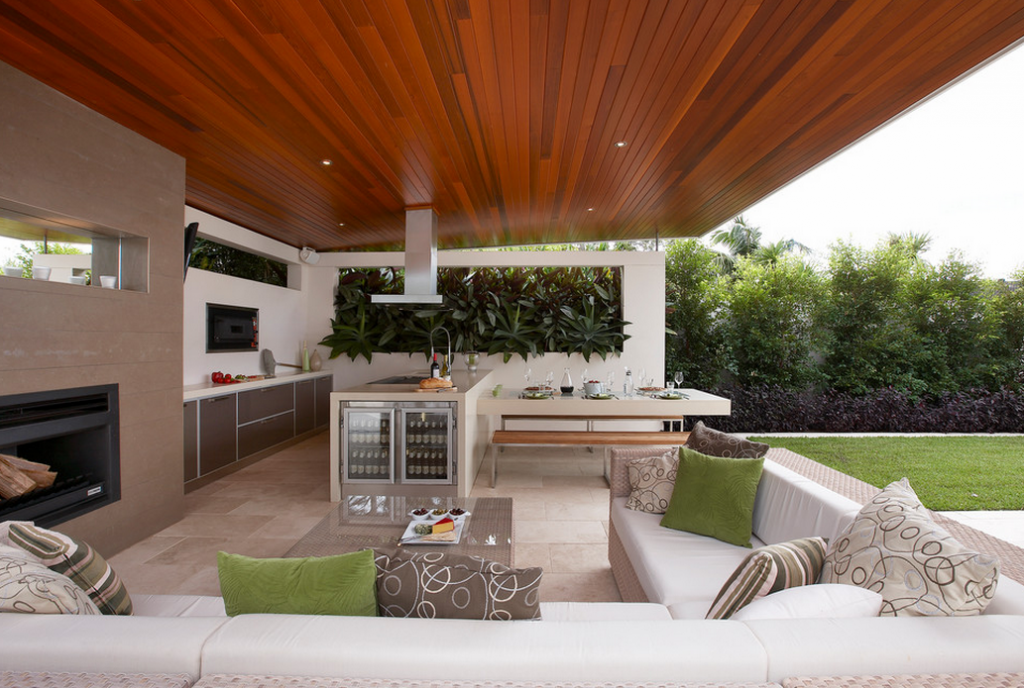 Cool and nice concept of houzz outdoor kitchen design for Outdoor summer kitchen ideas