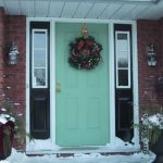 cool doors-adorable-ideas-for-front-door-for-christmas-ideas-for-front-door-wreaths-ideas-for-front-door-windows-ideas-for-front-door-window-coverings-ideas-with green wooden accent design