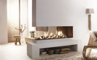 cool modern awesome nice wonderful 3 sided gas fireplace with compact design concept with small low design with adjustable fire
