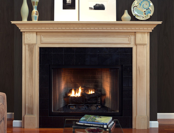 Brown Fireplace Mantel : Wonderful fireplace mantel design and decoration homesfeed