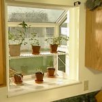 cool simple nice wonderful amazing garden windows for kitchen with two level shelf design concept and has some nice flower pot