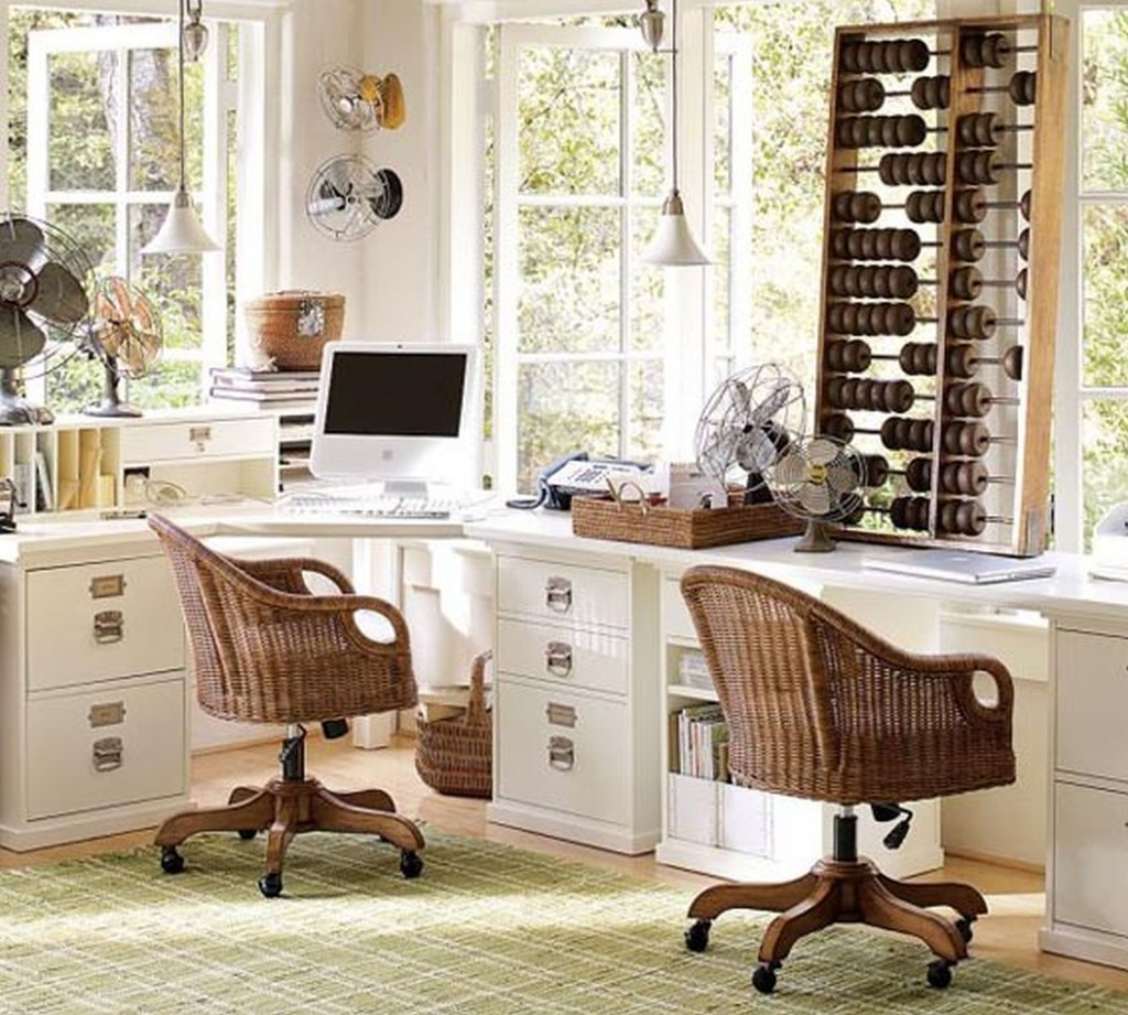 25 Cool Modular Home Office Furniture Designs: 2 Person Desk Design Selections