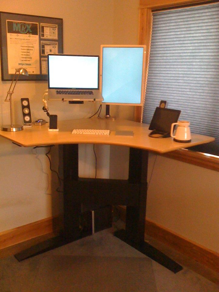 Build Standing Desk HomesFeed - Build corner computer desk