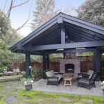 creative cool adorable fresh natural green outdoor pavilion plan with Exotic-Outdoor-Pavillion concept and has black dark accent with nice concrete flooring