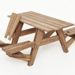 creative nice wonderful amazing awesome cool picnic table with classic traditional concept with wooden frame and material