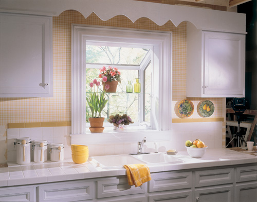 Design Window: Compact Design Of Garden Window For Kitchen