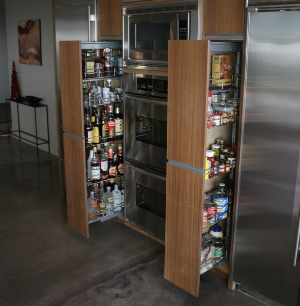 Creative Nice Wonderful Cool Amazing Nice Adorable Pull Out Pantry With  Double Pantry Design Concept Made