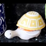 creative nice wonderful cool amazing nice measuring cup   with yellow cup design and white body of turtle shaped