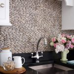 creative nice wonderful cool fantastic nice amazing river rock backsplash with small concept with nice arrangement with white accent