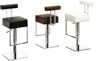 creative nice wonderful perfect modern houzz bar stool with single legs made of metal with nice square ssurface and back
