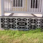 Decorative Vinyl Porch Skirting With Numbers