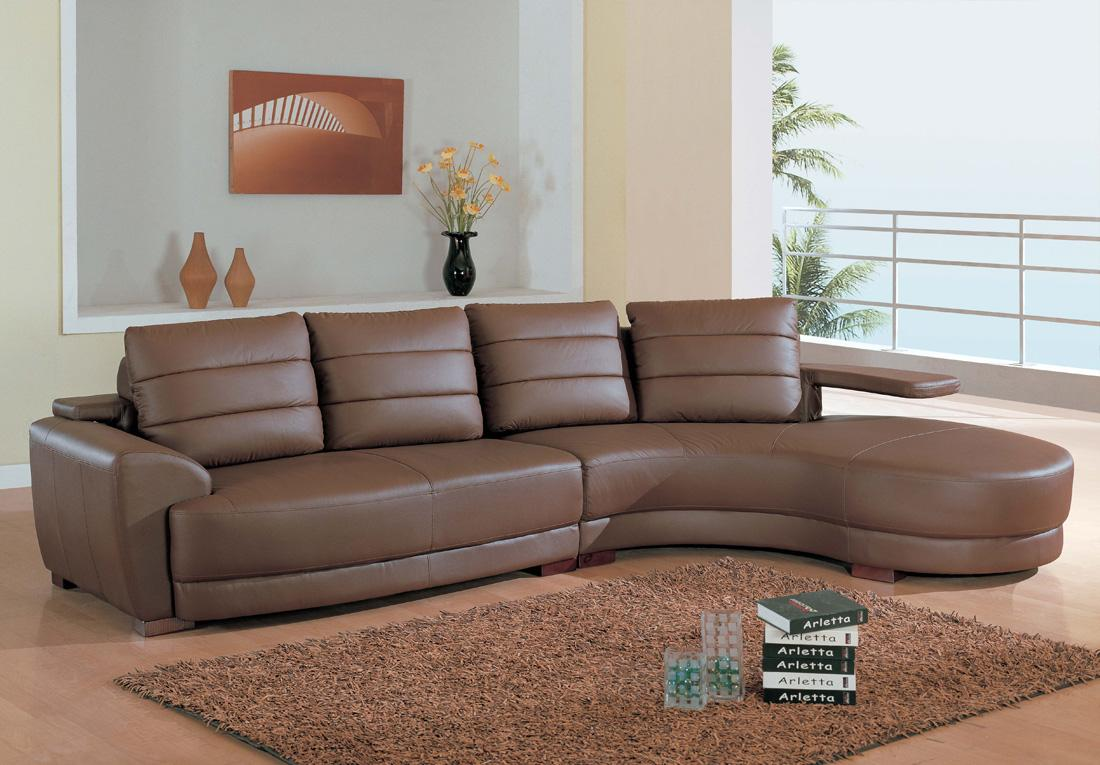 Comfortable chairs for living room - Deluxe Brown Leather Sofa For Living Room Cozy And Soft Brown Fury Carpet With A Pile