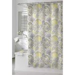 deluxe floral patterns in shower curtain square tub in white color white bathroom vanity with sink and faucet