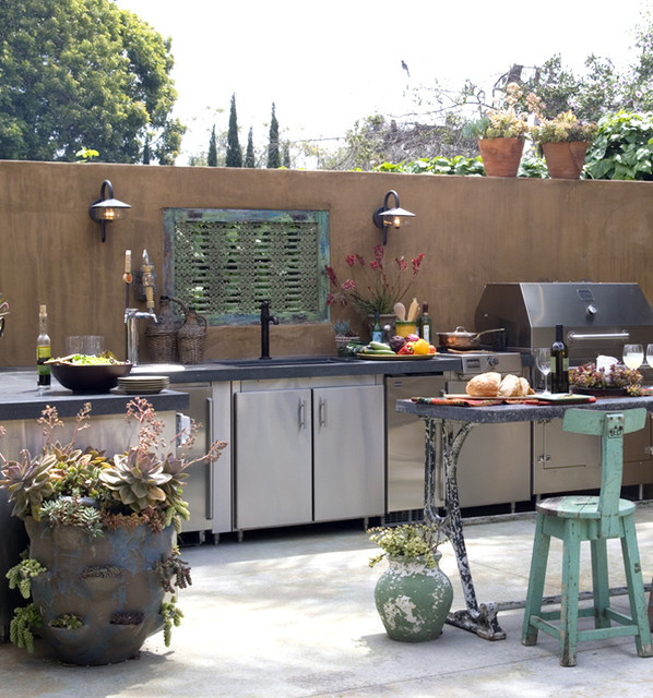 Modern Outdoor Kitchen Ideas And Designs: Cool And Nice Concept Of Houzz Outdoor Kitchen Design