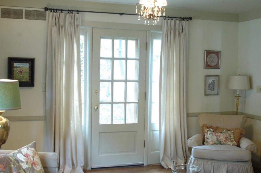 Lace And Curtains The Best Window Treatment For French Doors Homesfeed