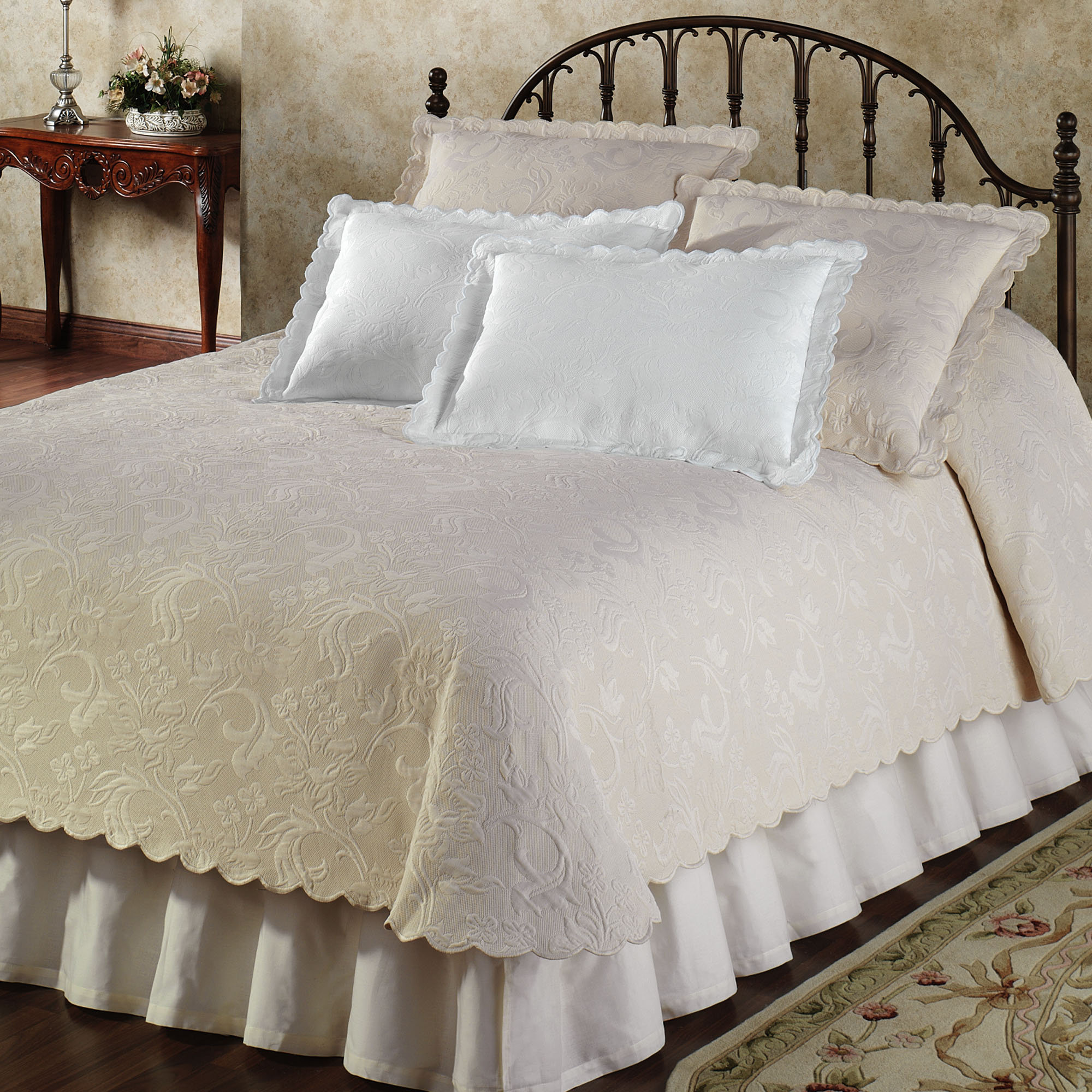 Marvelous Elegant White Coverlet A Kingbed Furniture Beautiful And Expensive Rug For  Bedroom Classic Wood Finishing