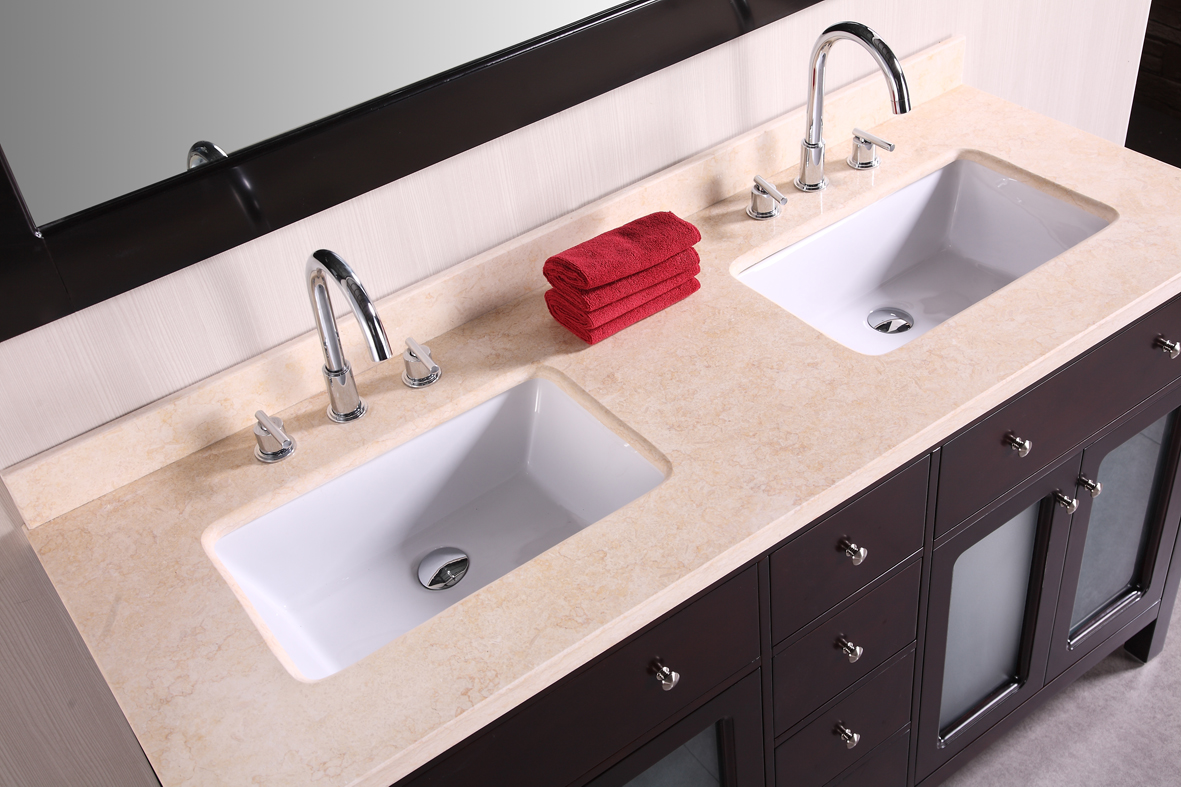 48 inch double sink bathroom vanity homesfeed for Double basin bathroom sinks