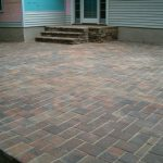 fabric-natural stones look like pavers for front terrace