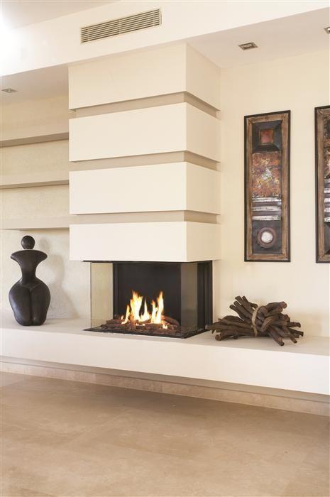 Creative Modern 3 Sided Gas Fireplace Design Homesfeed