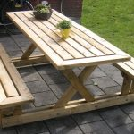 fantastic nice wonderful amazing adorable elegant cool picnic table with wooden made concept design with two bench design