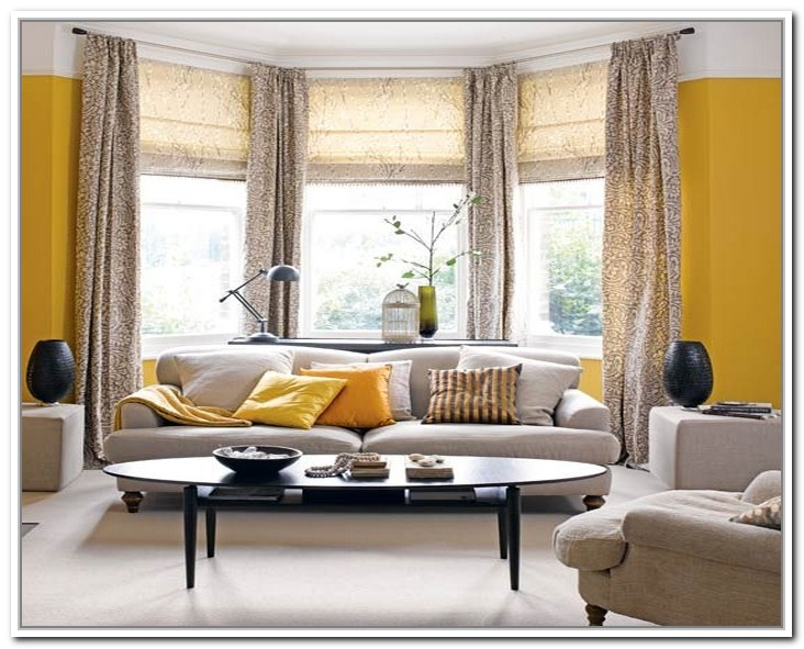 Top 2 drapes for bay windows homesfeed - Living room with bay window ...