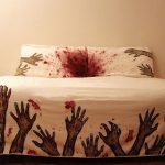 fun bedding in zombie theme