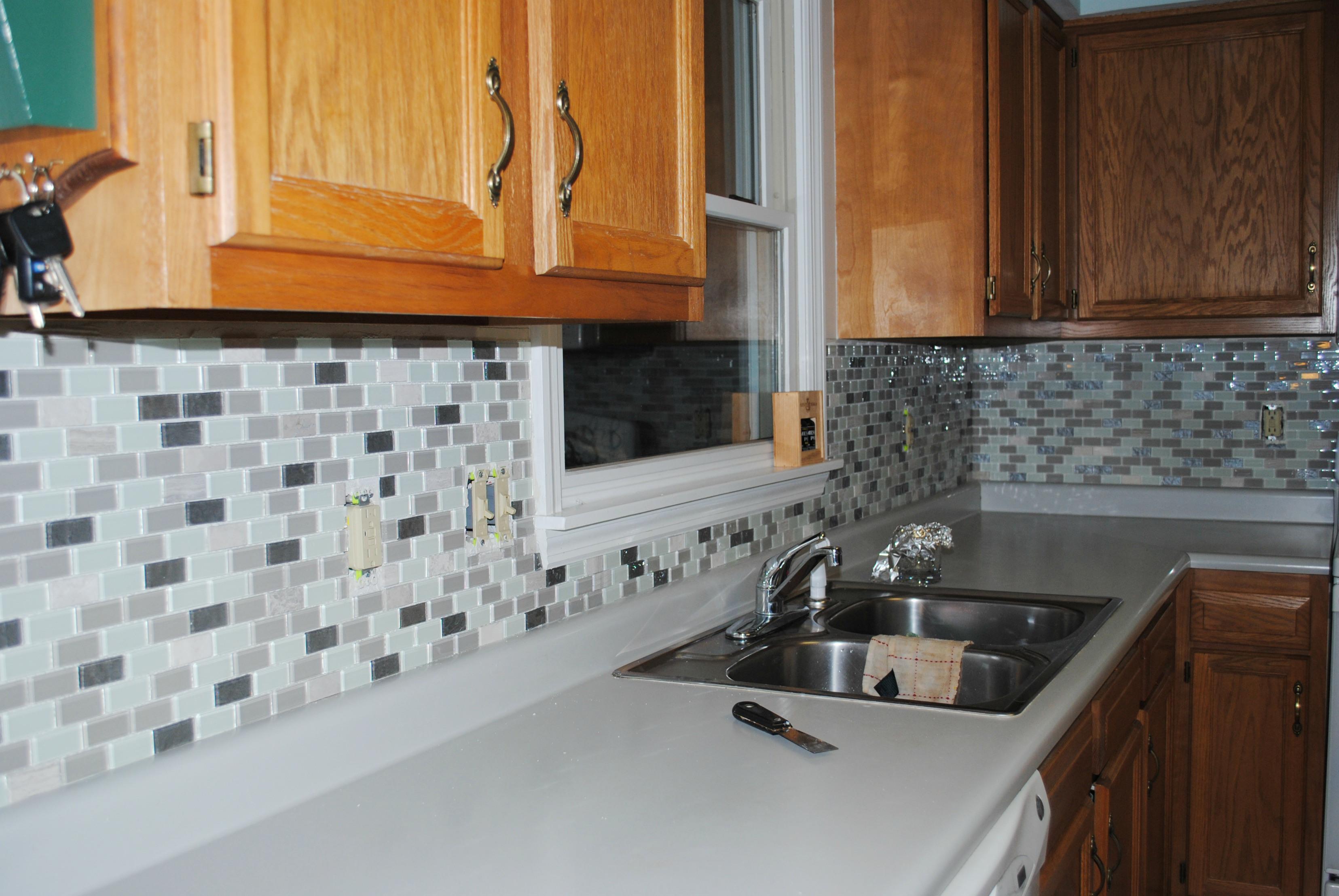 Glossy Groutless Kitchen Backsplash Wood Top Cabinet System Under Storage Pure White Laminate