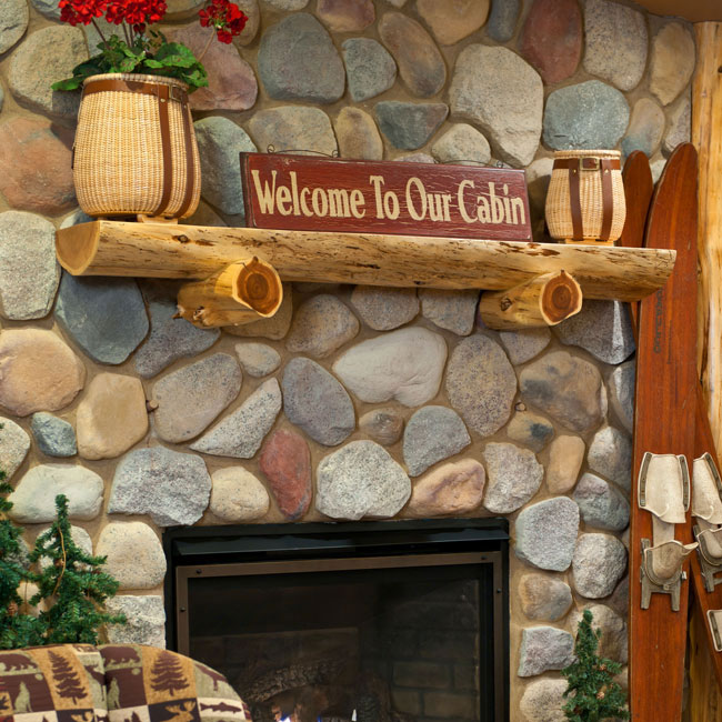 Create a rustic style on your fireplace with cedar mantels homesfeed - Log decor ideas let the nature in ...