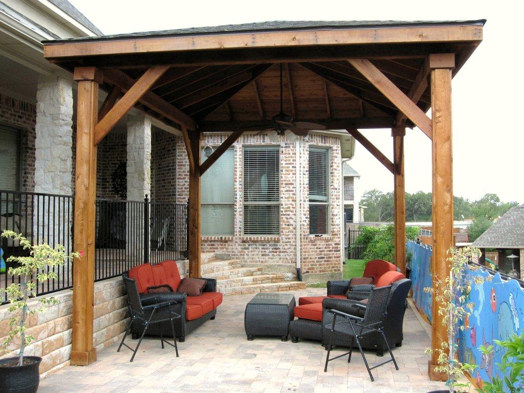 hardwood rooftop for patio comfy furniture for outdoor patio - Wooden Patio Covers: Give High Aesthetic Value And Best Protection