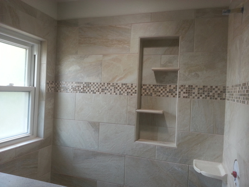 Marvelous Tile Bathroom Shelf Built In Shower Shelves As The Practical Way Of Storing  The Bath