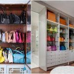 huge  cabinet for handbags storage with drawers  and boxes for storage colorful handbag collections hardwood  floor idea
