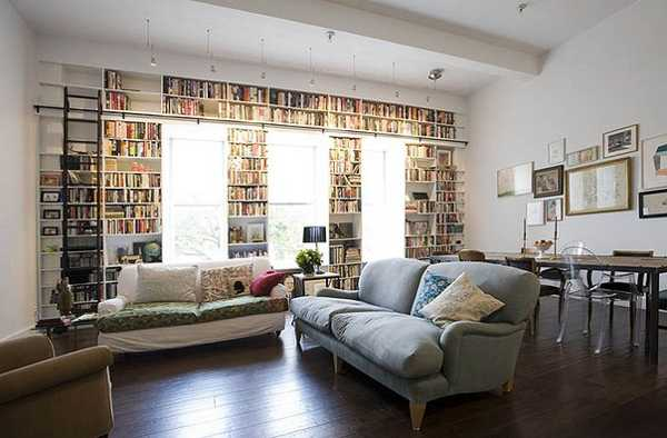 Huge Cool Fantastic Adorable Nice Under Window Bookcase With All Around Concept Nic