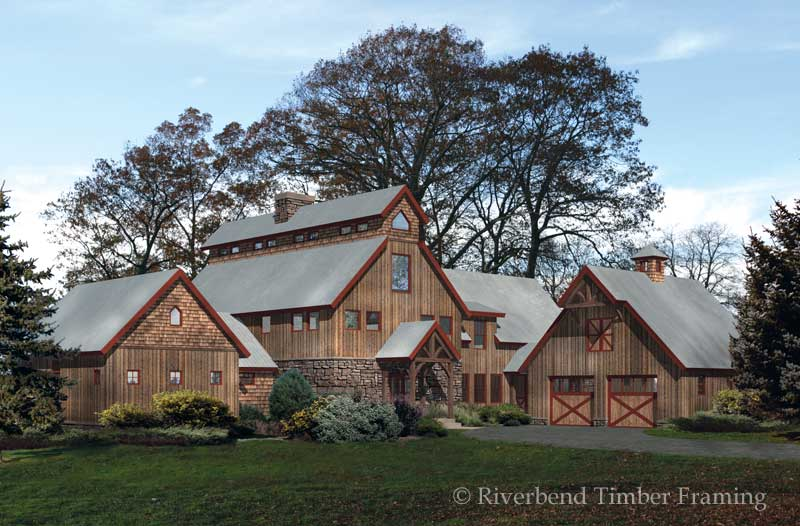 Modern and classic design of barn house for your idea for Wood barn homes