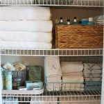 large-metal basket for linen storage amount of linens and bath properties