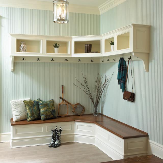 Elegant Foyer Benches : Amazing design of corner entryway bench homesfeed