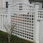 lattice fence idea in white color