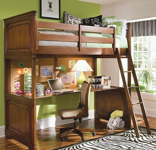 Adult Loft Bed with Desks A Solution to Optimize the Space
