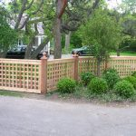 low lattice fence idea for front garden