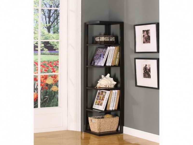 Corner bookshelf ikea efficient interior storage homesfeed for Ikea wooden bookshelf