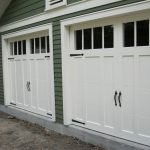 minimalist craftsman wood door ideas in white color for garages