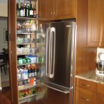 modern adn classic cool amazing nice wonderful cute pull out pantry with wooden made concept design joined iwht the cabinet and has refrigerator