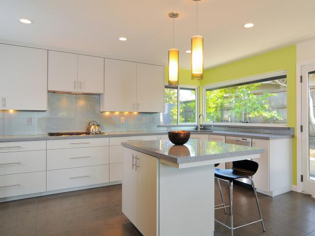 Modern Cool Amazing Nice Wonderful Attractive Elegant Modern Kitchen Cabinet  With Nice Whie Accent Wooden Made