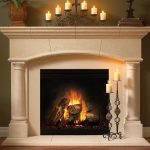 modern cool amazing wonderful fantastic fireplace mantel idea with white accent concept adn has nice design with adorable candle decoration