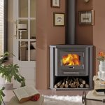 modern corner wood burning stove building with logs under the building smooth white fury carpet low mini settee furniture for reading some wall ornaments
