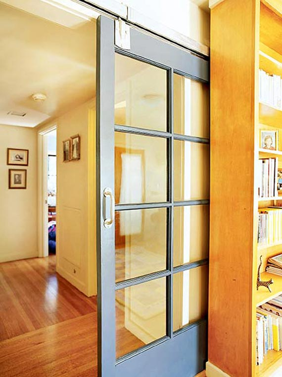 Ordinaire Modern Glass Barn Sliding Door With White Colored Frame