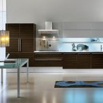 modern nice adorable cool amazing  modern kitchen cabinet with nice black wooden concept design and has marble look flooring