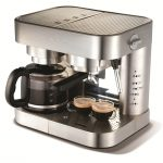 modern nice adorable cute fresh most used coffee maker with all metal design with double cup stands with nice concept