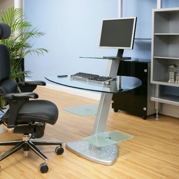 Slim computer desk with huge variants of design homesfeed - Slimline computer desk ...